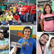El Salvador Focus employees participating in company activities.