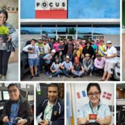 Focus El Salvador employees participating in company activities.