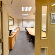 The training boardroom at Newport Pagnell.