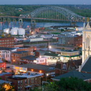 Dubuque city view.