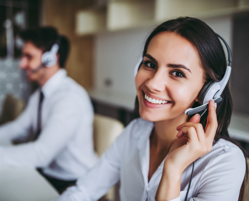 Call center workers.